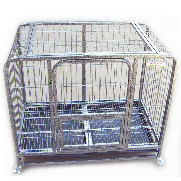 High-grade square tube dog cage large dog cage pet cage galvanized steel dog kennel