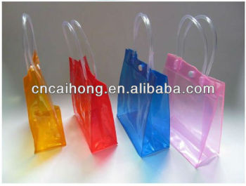 CLEAR PLASTIC PVC TOTE BAG,TRANSPARENT PVC BAG