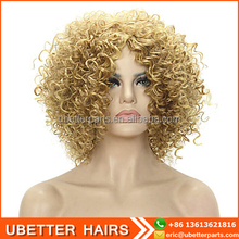 Good quality No shedding short fake hair dreads water wave synthetic wigs for black men