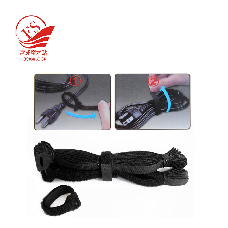 OEM supplier Wire Management Reusing hook loop cable ties