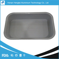 airline aluminium foil container with lid for aircraft and onboard catering