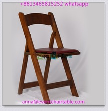 Wholesale Wedding Event Party Rental Wooden Folding Chair