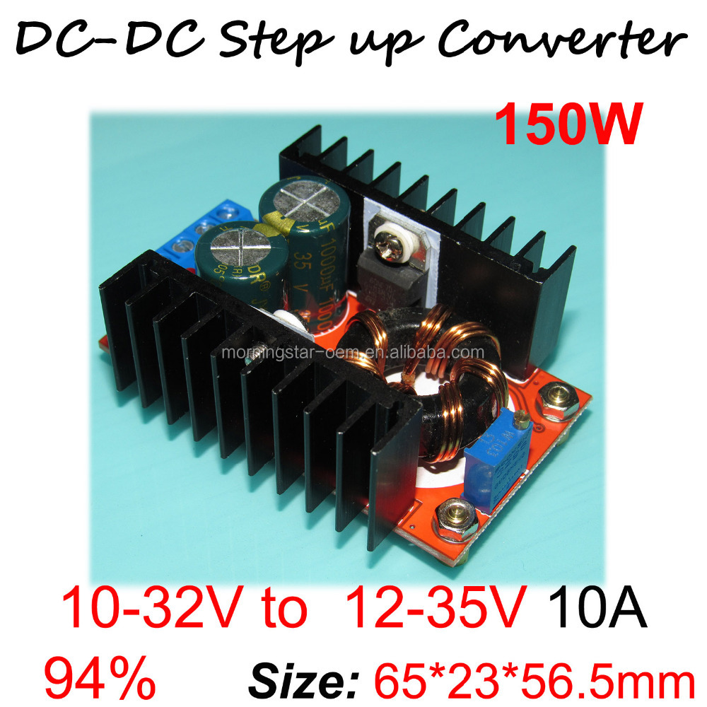 150W Car Laptop Charger module / 150W DC-DC Boost Converter 10-32V 11V 12V 24V to <strong>12</strong> - 35 V Step Up Voltage Charger Power Module