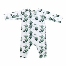 Newborn Baby cotton Clothes Infant Rompers Long Sleeve Boys green cactus One-Pieces kids Jumpsuit Pajamas kidswear
