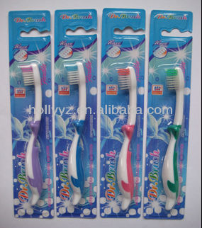 2014 hot sale professional design dental mini brush head colourful lovely kids toothbrush set