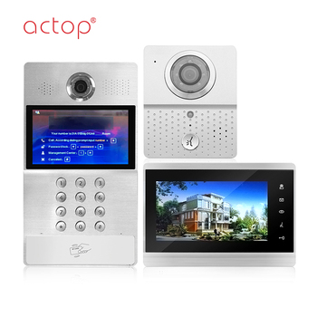 Building intercom system multi apartment IP video door phone