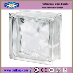 High quality 190mm*190mm*80mm decor wall block glass