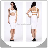 white two piece sexy bandage dress nov 11 shopping carnival 2014