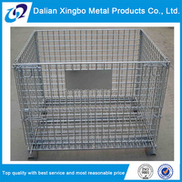 material handling industrial stackable storage metal wire mesh box