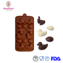 Food grade Egg Easter Rabbit Duck Shape Chocolate Silicone Mold/Baking Cake Decoration