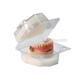 Plastic Denture Box With Sponge For Packing Complete Denture