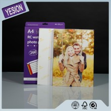 Yesion Premium A4 High Glossy Waterproof 260gsm RC Inkjet Printing Photo Paper 4*6