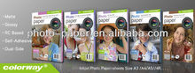 Premium High glossy inkject photo paper with 4r 5r 6r size(RC base)