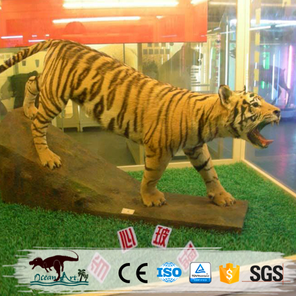 OA8240 eco-friendly real size tiger animal sculpture for amusement park decoration