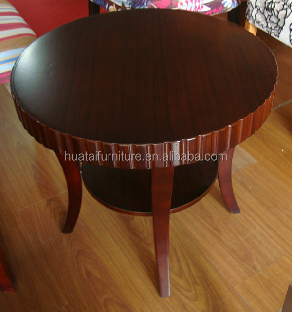 2014 new modern round wooden coffee table for hotel for Bedroom coffee table