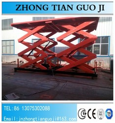 2016 New Condition Stationary Scissor Hydraulic Car Lift With Best Price