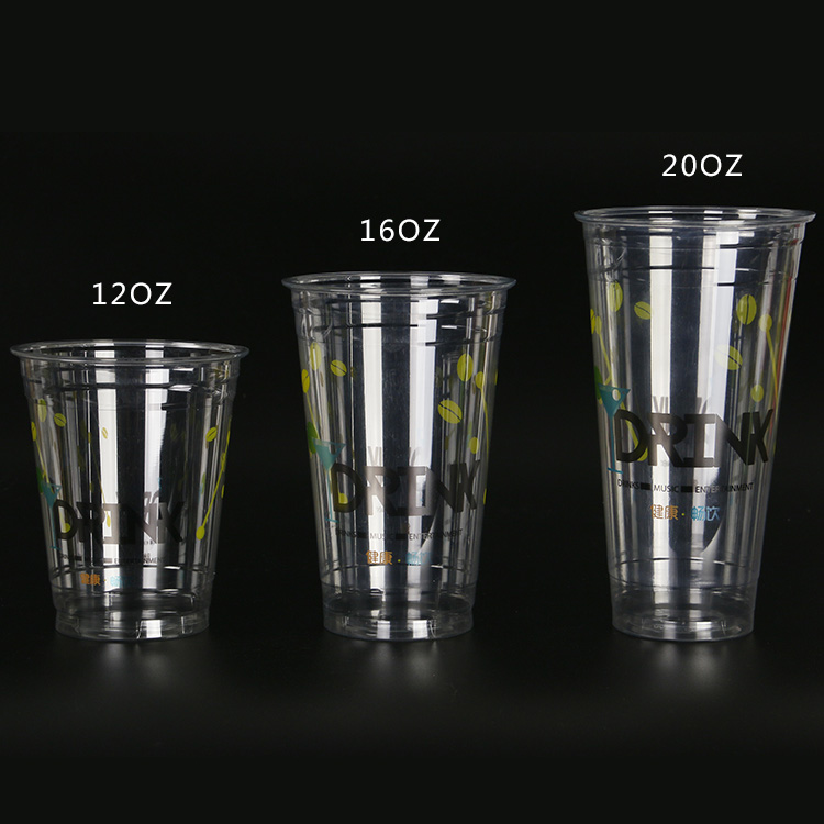 Disposable Healthy Clear plastic cup customized PET cups