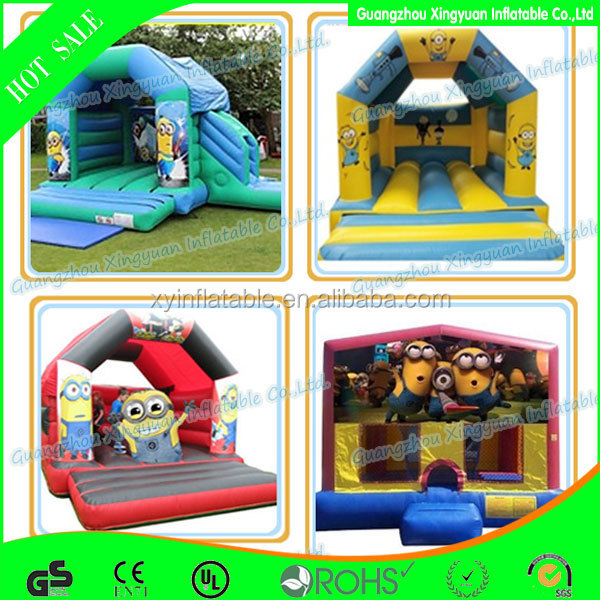 cheap Custom inflatable minion bounce house minions combo for sale