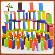 120 Pieces Wooden Educational Toys Color Clear Domino Brick Wholesale Custom Colored Dominoes