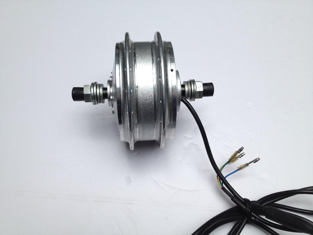Brushless gear dc hub dual shaft spoke hub motor buy for Electric bike hub motor planetary gear