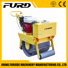 FYL-450 mini handle gasoline single Drum vibratory soil tamping Road Roller