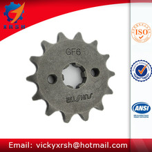 Zinc Plated 14T Front Driven Motorcycle Chain Sprockets
