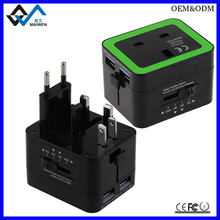 Double USB UK Travel Adapter With UK Socket And UK AUS EU US Plug
