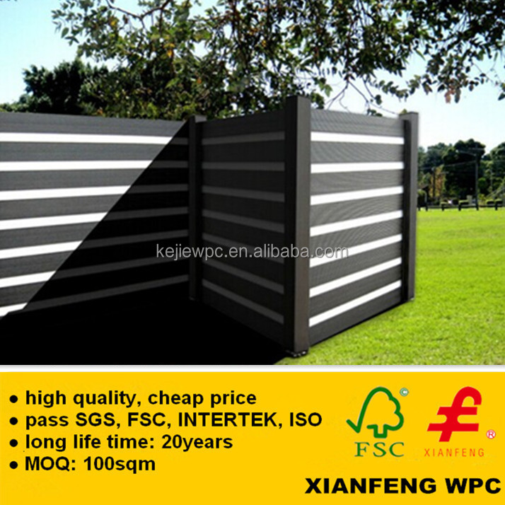 2014 New Product Europe Fashon Wood Plastic Composite WPC Fence Anti UV Outdoor Garden WPC Fencing