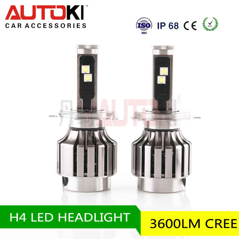 Best Sale Autoki 3600lm LED Head Lamp with High-Low Beam Pattern H4