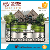 SGS standard factory supply main gate design,Villa wrought iron fence gate design