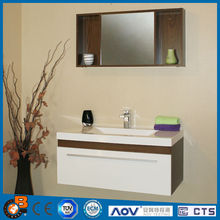2014 galaxy bathroom vanity combo with square mirror cabinet