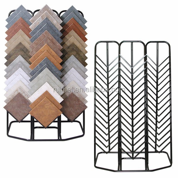 Sturdy 3 Sides Metal Tile Showroom Display