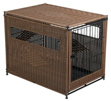 New Design Wicker Pet Residence Wicker Dog Crate Animal Cage Dog Kennel House