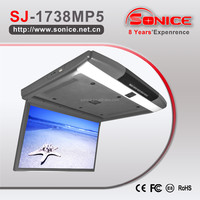 Sonice super slim 17.3 inch HDMI MP5 roof mount monitor