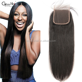 Large stock lace closure cheap virgin human hair closure