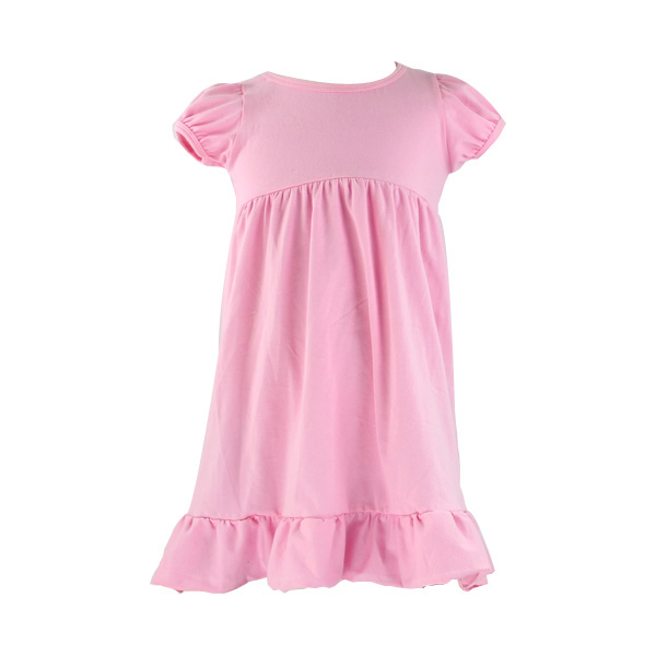 Kaiyo Hot sale new design pink lovely cotton knit baby dress flower girl dresses kids frock designs pictures
