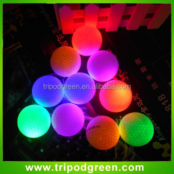 cheap steady on glowing led golf balls wholesale