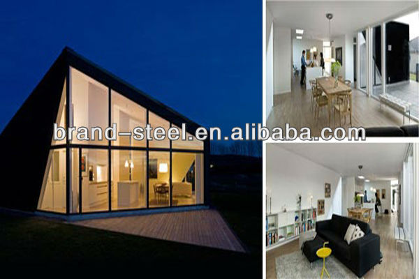 China hot sale luxury modern steel frame house prefabricated homes