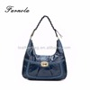new products ostrich leather patched handbags ladies