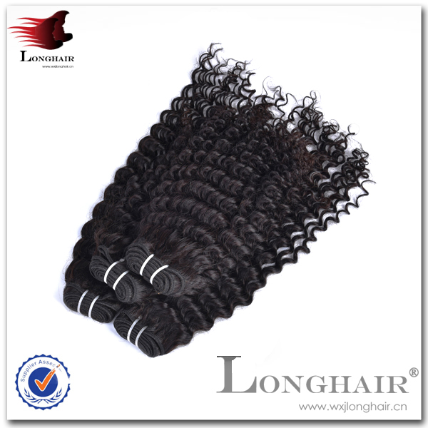 Different Types Of Fabrics Full Thick Raw Brazilian Deep Curly Hair Weft