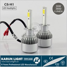 KARUN competitive price N2 S2 C6-H1 COB 36w 3800LM/Lamp DC 12V / 24V led headlights for cars & motorcycles