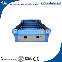 AOL 4*8 feet large scale wood craft laser cutting machine for wood/mdf cutting
