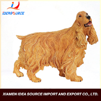 Artificial high simulated animal size wholesale Resin dogs