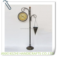 decorative garden metal floor clock