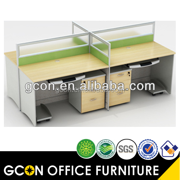 Small Office Modern Workstation Cubicle For 4 People Gcon Product