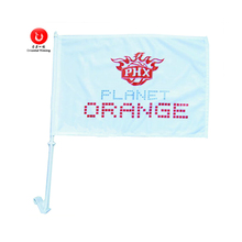 Hot Selling Car Window Flag With Plastic Pole