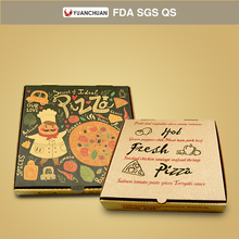 Custom printed 8 9 12 inch pizza boxes with logo