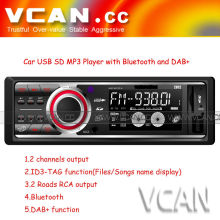 VCAN0793 hot sale with led/lcd display car mp3 player with Bluetooth and DAB+