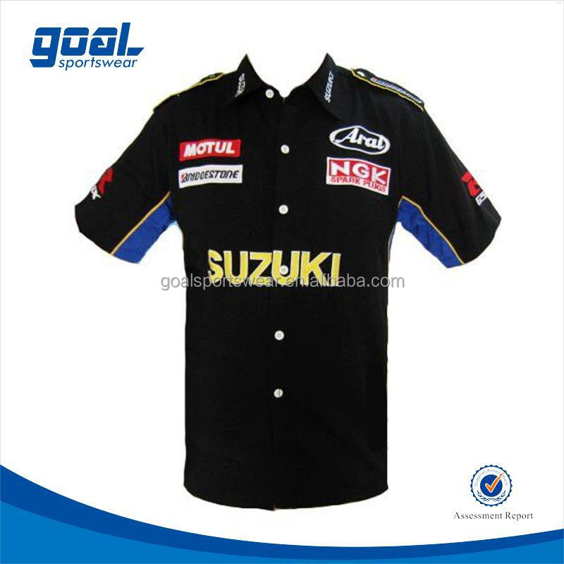 Unique design club sublimated motorcycle racing shirts