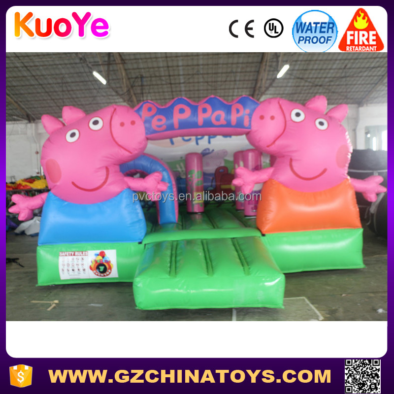 Popular peppa pink pig inflatable bouncy castle for sale